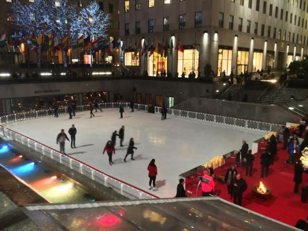 """The Rink at Rockefeller Center is definitely cliché, but it's also definitely on that """"NYC Bucket List,"""" so it's worth a go."""