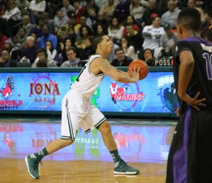 Mike Alvarado was an All-MAAC Third Team selection for the second time in his career. He averaged a career high with 12 points and four assists this season. Photo taken by James O'Connor