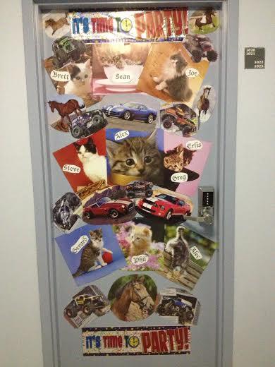 One 10-man suite's door. Photo by Sean Sonneman.