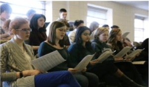 Students raise their voices in new acapella group. Photos by James O'Connor