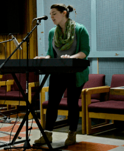 Bowers preformed the song 'Dirty Brother' at last months Coffeehouse. Photo by Lindsay Burns