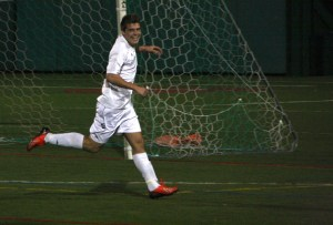 Daniel Laguna Kennedy, who will be a sophomore by the start of next season, will lead a hopeful Manhattan soccer team. Photo by James O'Connor.