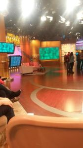 """The Dr. Oz  Show"" studio before filming begins. Photo by Claire Leaden."