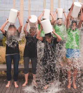 The ALS Ice Bucket Challenge quickly became the trend of summer 2014. Photo courtesy of Creative Commons.
