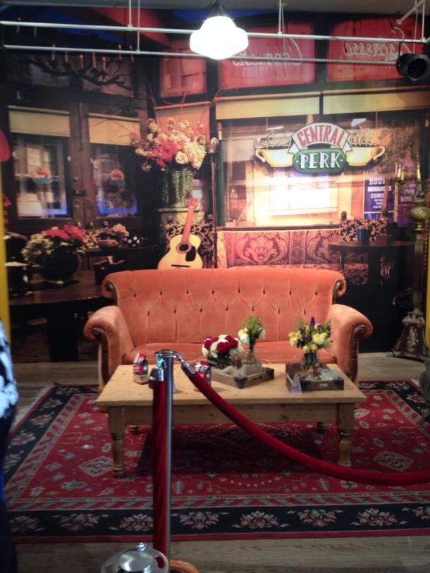 "Fans of the show ""Friends"" can take a seat on the iconic couch at the pop-up Central Perk. Photo by Lauren Carr"