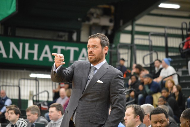 Steve Masiello was none too pleased with the officiating. Photo by Kevin Fuhrmann.