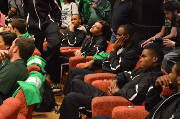The Jaspers waited to hear their name called on Selection Sunday but were in for a rude awakening, having been selected as a 16-seed. Photo by Chris Cirllo.