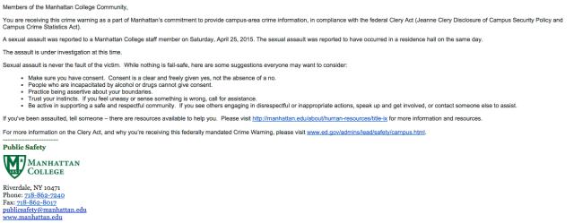 4/26/15 Public Safety Alert