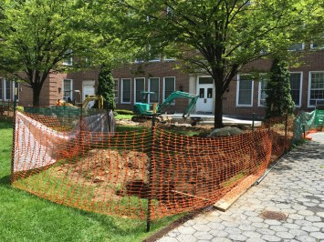 Most of North Campus has been transformed into a construction site this summer. Photo by Anthony Capote