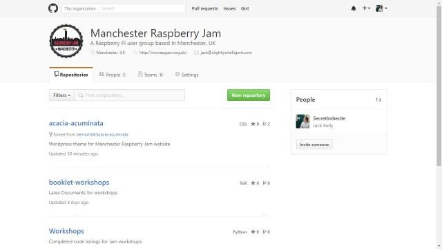 Manchester Raspberry Jam Github