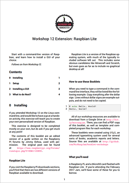 Workshop 12 extension PDF