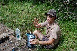 Water found at stream