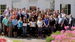 Image of Interns and Supervisors Outside the Blaine House