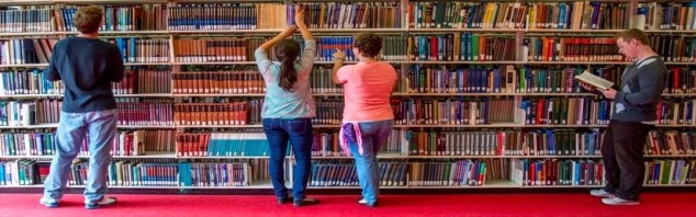 Image of Students at Library