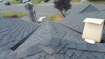 Detailed Peak Flashing roofer bothell