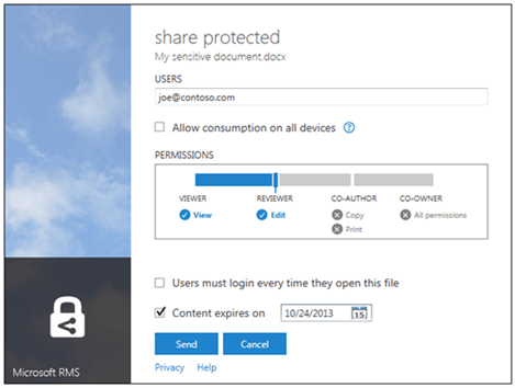 Share Protected RMS