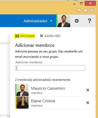 Atribuição de Membros Finalizada