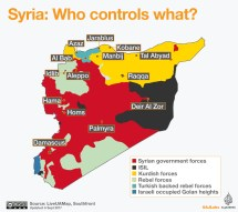 Syria Battle Map Middle East - Year of Clean Water
