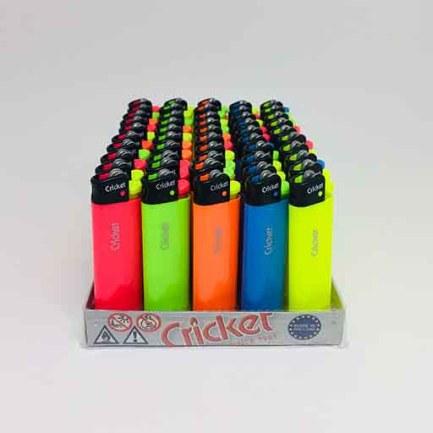 Cricket Uzun Fluo Taşlı Çakmak (50adet)