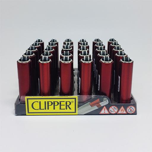 Clipper Micro Metal Kılıflı Red Çakmak