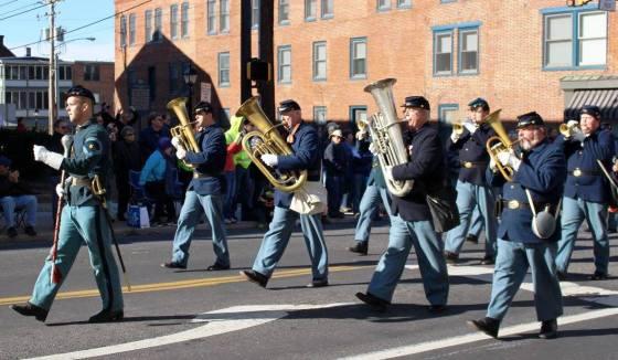 Brass band playing