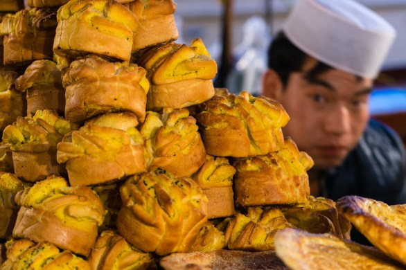 Pictures of Night Food Market in Xian China by Mary Catherine Messner