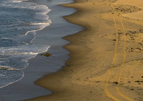 Picture beach views on Balboa Island and Balboa Peninsula, Newport Beach, California, USA.