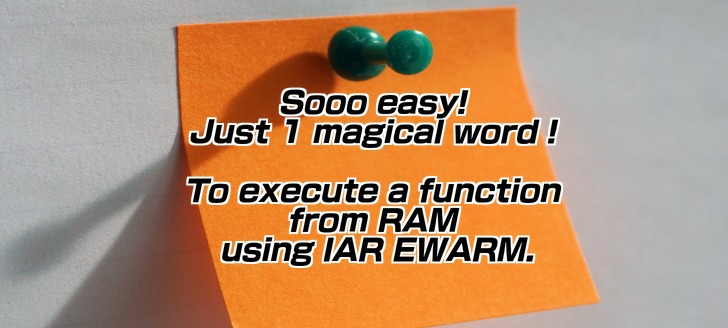 So easy to execute function from RAM