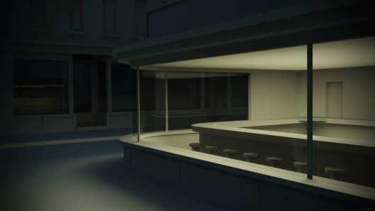 Empty Nighthawks (Edward Hopper originally)