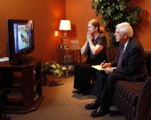 showing a settlement documentary at mediation