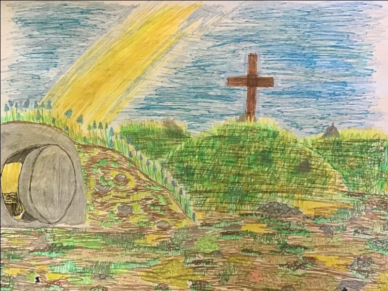 Resurrection Art by my daughter - The Empty Tomb