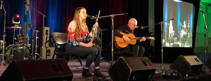 Shannon and Tony Quinn at the 2020 Halifax Celtic Festival