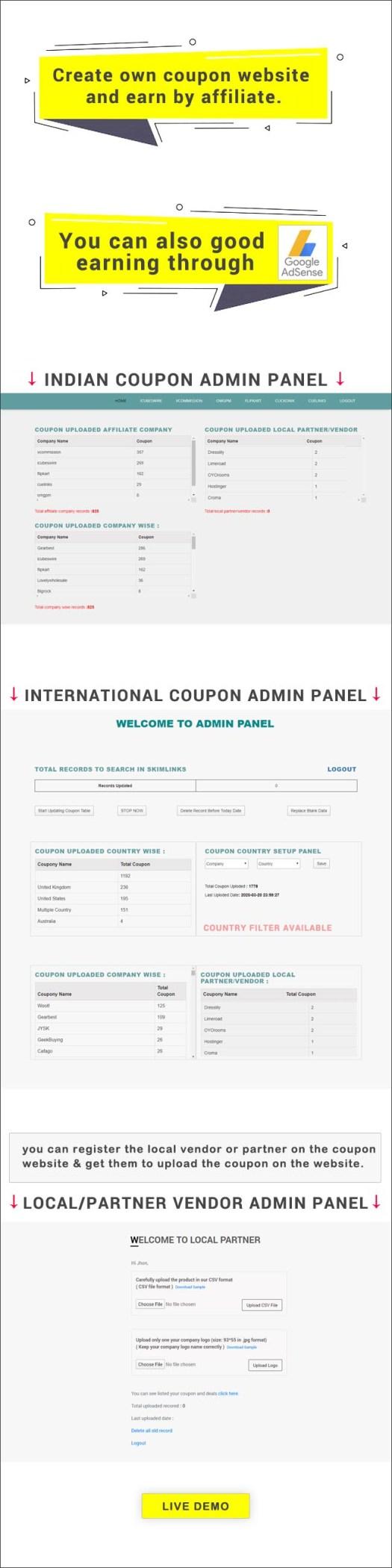 iCOUPON - Coupon API Listing Website - 1