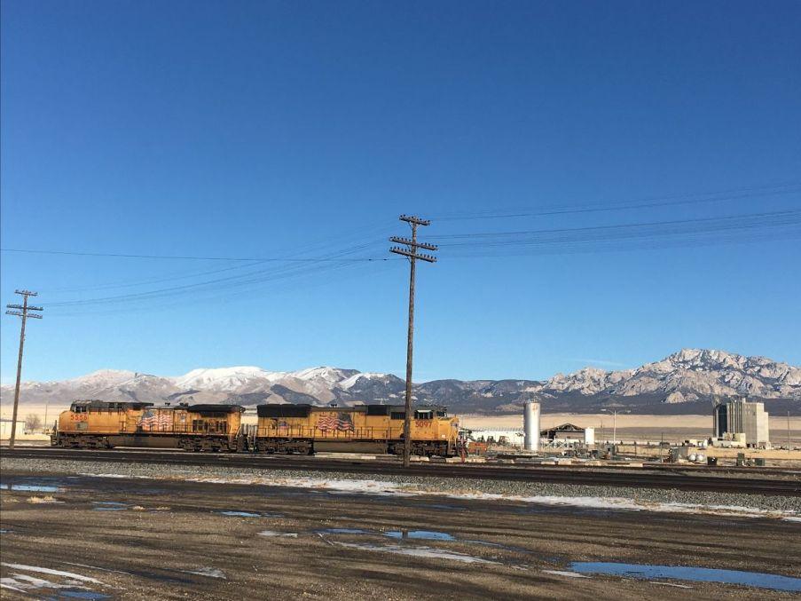 Union Pacific train in Milford