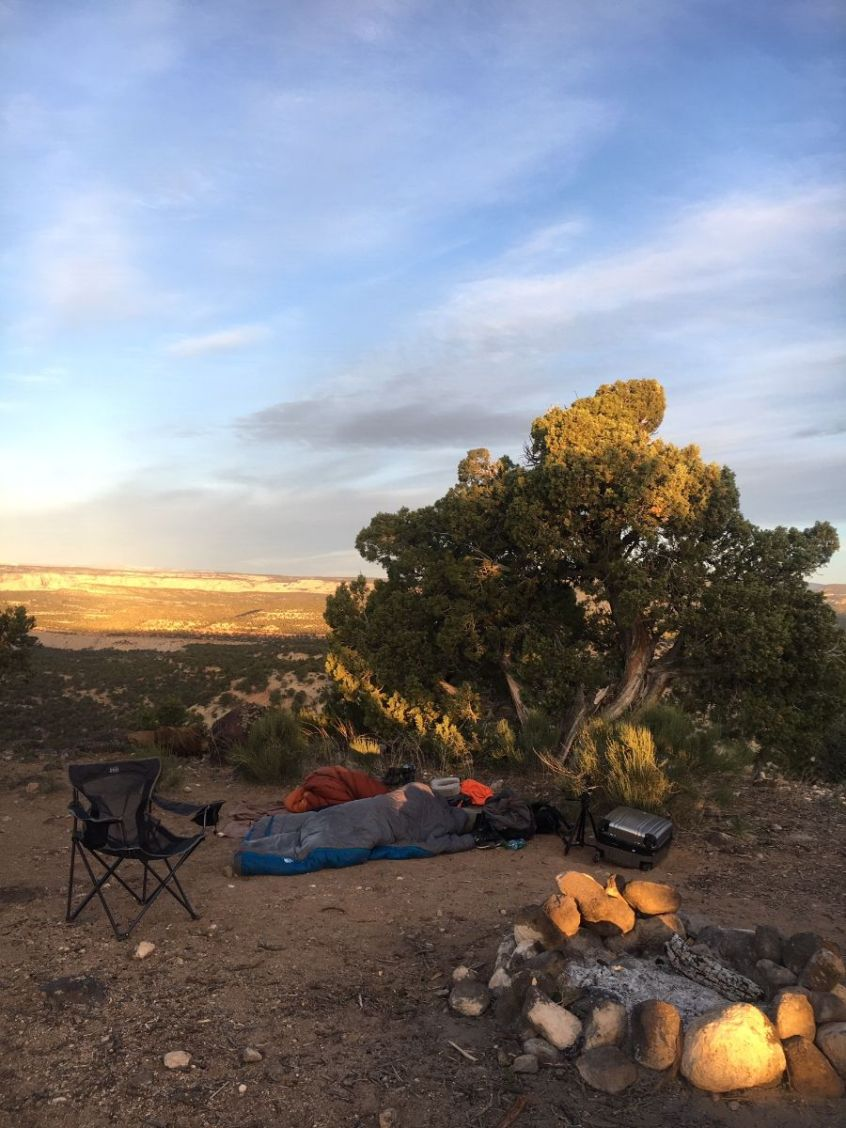 Campsite in Garfield County