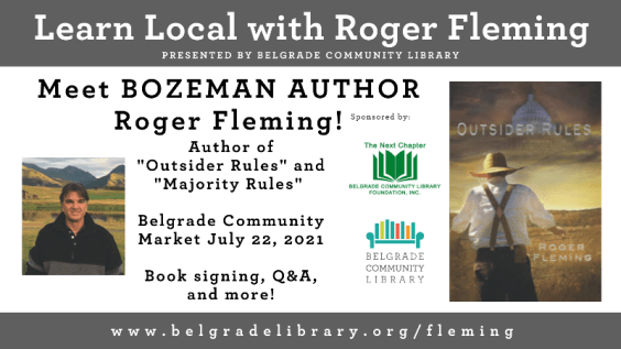 Meet Bozeman author Roger Fleming at the Belgrade Community Market