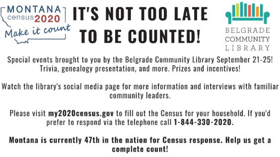Census Week - September 21-25