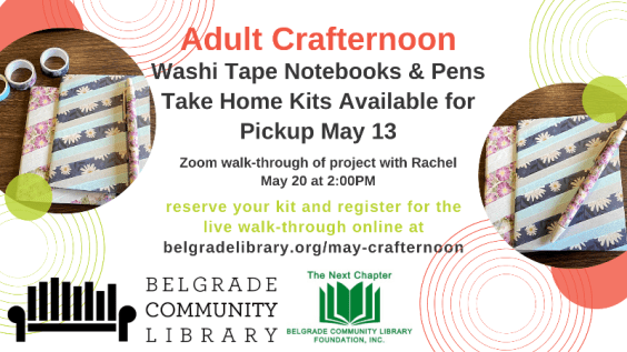 Washi Tape Notebooks and Pens Adult Crafternoon