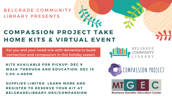 Dementia Education Take Home Kit & Virtual Event with Compassion Project