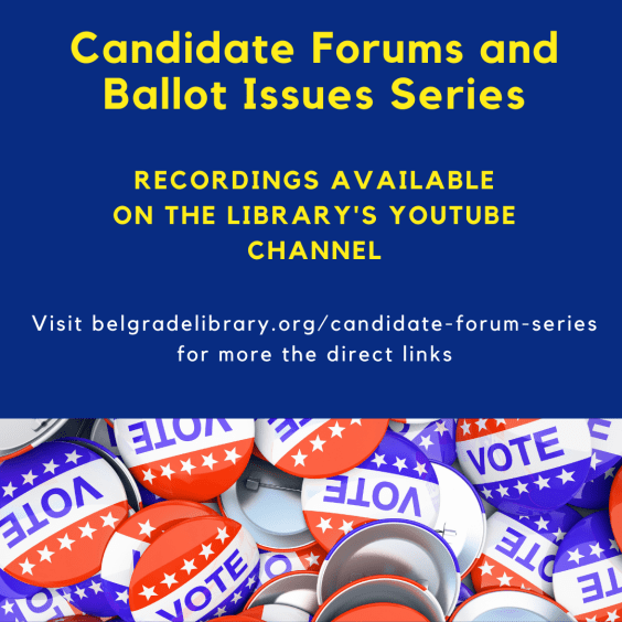 Candidate Forum and Ballot Issues Recordings Available