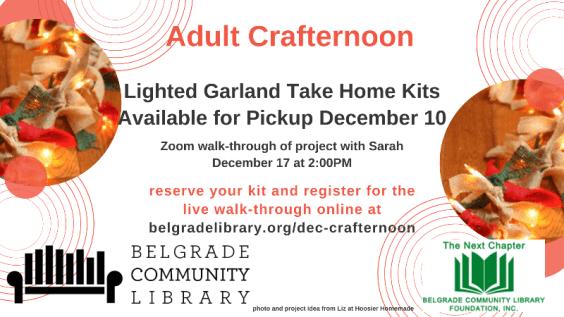 December Adult Crafternoon - Lighted Burlap Garland