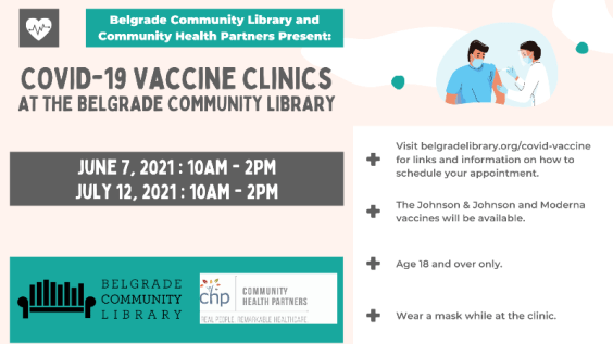 COVID-19 vaccination clinics at the library