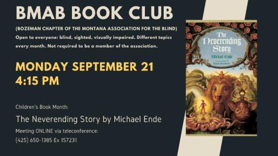 BMAB Book Club. September 21 via teleconference.