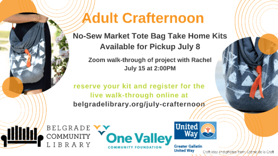 No-Sew Market Tote Bags Adult Crafternoon