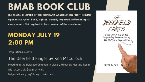 Montana Association for the Blind Book Club Announcement