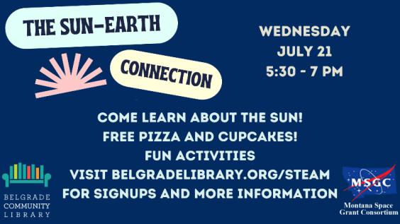 Family STEAM event July 21 from 5:30-7:00PM
