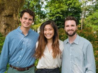 Jeff, Helen and Cameron Summer Interns 2019