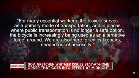 Screenshot of Channel 7 news - Quote from Shaun Bhajan of Hometown Bicycles on COVID-19 essential bike repairs
