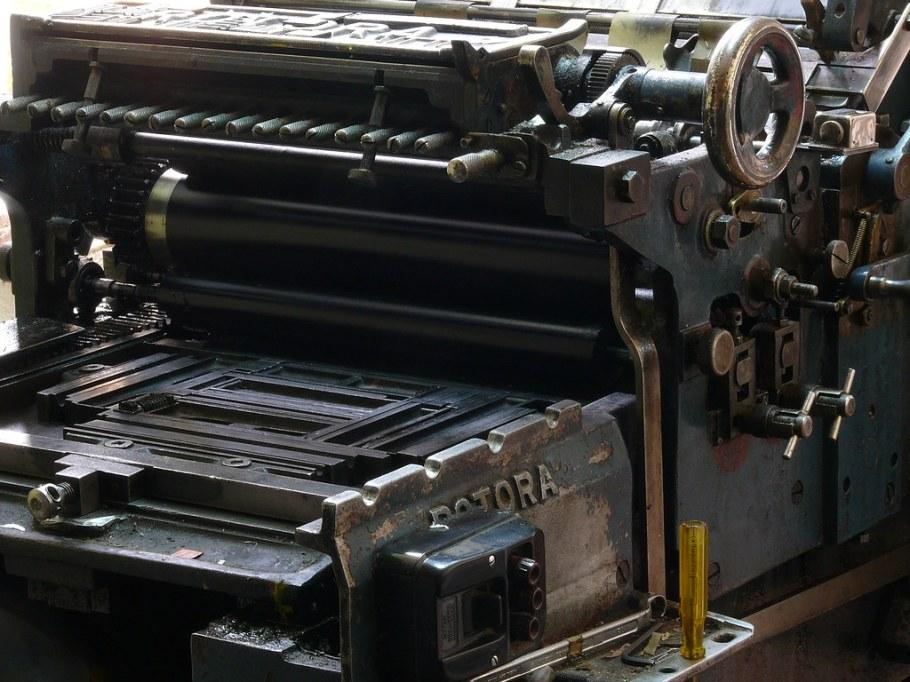 Máquina de imprenta (Foto: Pablo González)
