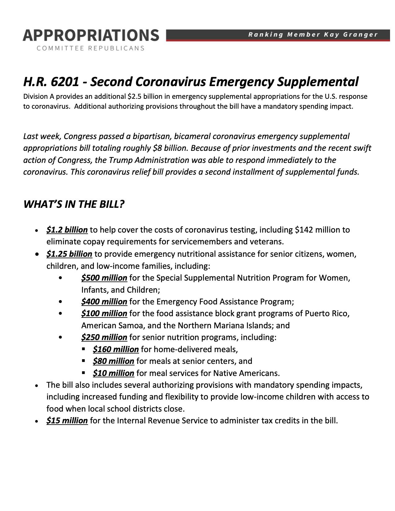 House Leads on Coronavirus Response | Congressman Steve Scalise